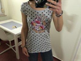 T-Shirt gepunktet mit Cupcake-Druck 34 XS