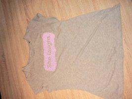 T-Shirt grau mit Glitzerdetails