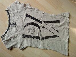 T-Shirt in steinfarben mit Logoprint Größe S von REVW/5 Diva