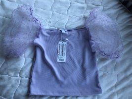 Amisu Top épaules dénudées violet
