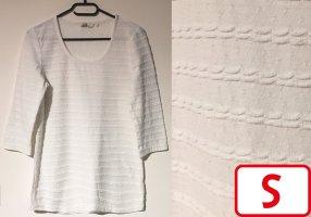 T-Shirt mit Muster, 3/4 ärmlig, U-Schnitt