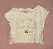 T-Shirt mit Spitze am Rücken helltürkis Abercrombie & Fitch