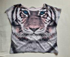 H&M T-shirt imprimé rose clair coton