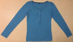 T-Shirt mit U-Ausschnitt, langärmig