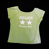 T-Shirt Neunziger Retro Vintage Retrochic U Boot Ausschnitt