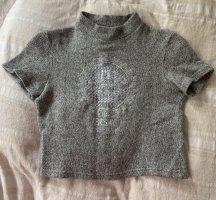 Versace Cárdigan de punto fino gris claro-color plata