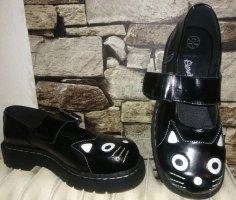 Chaussures Mary Jane noir-blanc cuir