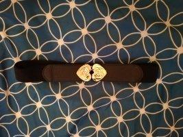 Cinturón pélvico negro-color oro