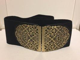 H&M Cintura vita nero-oro Metallo