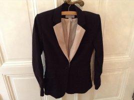 H&M Blazer nero-beige chiaro