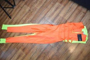 Take The Plunge Sleeveless Jumpsuit  Orange 36 Fashionnova
