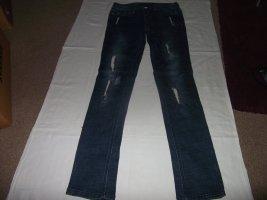 Jeans stretch bleu tissu mixte