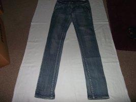 Jeans elasticizzati blu Tessuto misto