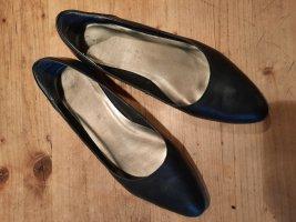 Tamaris Slingback ballerina's zwart Leer