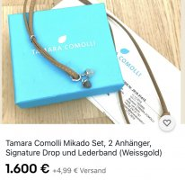 TAMARA COMOLLI Collar color plata-blanco