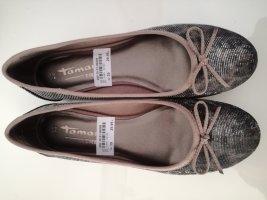 Tamaris Patent Leather Ballerinas light brown-brown