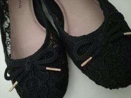 Tamaris Ballerina's met kant zwart