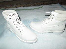 Tamaris Botki biały Skóra
