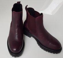 Tamaris Chelsea Boot rouge mûre cuir