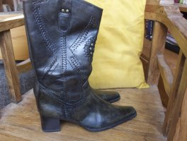 Tamaris Western Boots anthracite-taupe leather