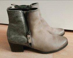 Tamaris Damen Stiefeletten Boots 41 grau braun silber Schlangenhautmuster