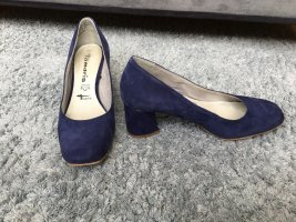 Tamaris Loafers blue leather