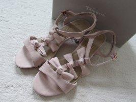 TAMARIS * Edle Nubukleder Sandale * rosa rosé Schleifen Marcel Ostertag * 40