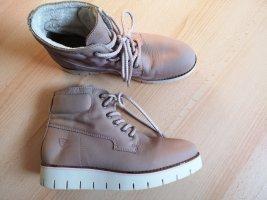 Tamaris Leder Boots Halbstiefel Plateau rose