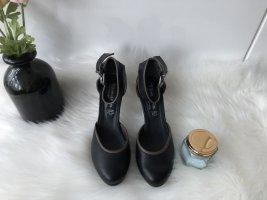 Tamaris Sandalen met bandjes en hoge hakken zwart