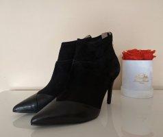 Tamaris Leder Stiefeletten / Ankle Boots Spitz in Schwarz Gr.40, NEU!