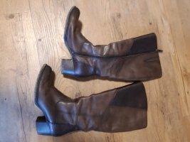 Tamaris Bottes à l'écuyère bronze-brun foncé cuir