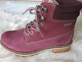 Tamaris Ankle Boots purple-carmine leather