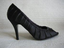tamaris pumps neu gr. 38 peep toes schwarz business