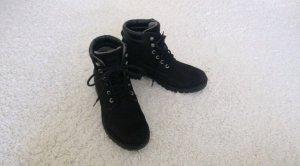 Tamaris Bottes à lacets noir-gris anthracite