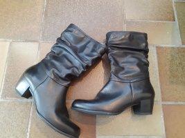 Tamaris schwarze Lederstiefeln