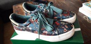 Tamaris Lace-Up Sneaker cadet blue