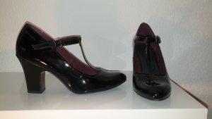 Tamaris Spangenschuh Lack, schwarz Größe 38, 1 x getragen