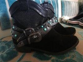 Tamaris Bottines plissées noir