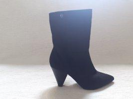 tamaris stiefeln neu gr. 38 schwarz toller absatz