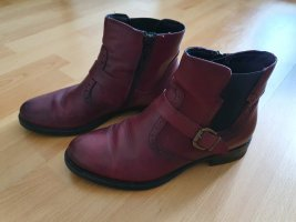 tamaris stifeletten Größe 38 top Zustand Bordeaux weinrot booties ankle boots
