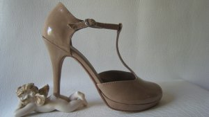 Tamaris T-Strap Pumps beige