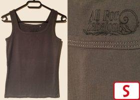 Zabaione Camiseta sin mangas marrón grisáceo