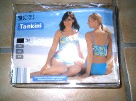 keine Marke Tankini dark yellow-neon blue