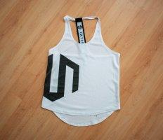 MOROTAI Sports Tank white-black