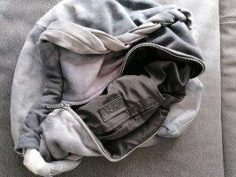 Zara Basic Bolso de tela color plata-gris