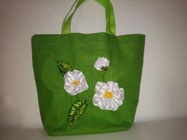 Borsa di tela verde Lino