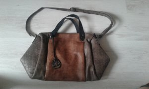 Tasche braun/grau/silber neu