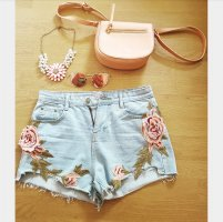 Tasche Clutch Henkel rosa nude NEU Hippie boho blogger hipster