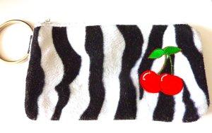 Tasche Clutch Portemonnaie Geldbörse kleine Tasche Zebra Rockabilly