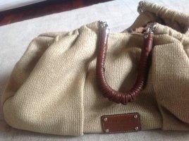 Tasche Dolce&Gabbana 49cm breit 33cm hoch beige mit Lederbesatz braun